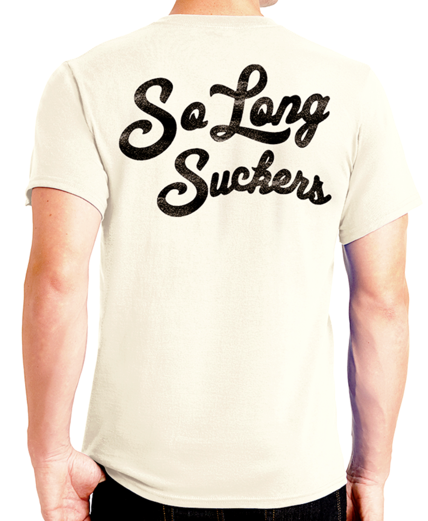 The SO LONG SUCKERS Tee - NATURAL - ONLY SIZE 2XL LEFT!