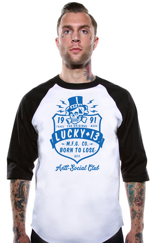 The ANTI SOCIAL CLUB 3/4 Sleeve Raglan Tee