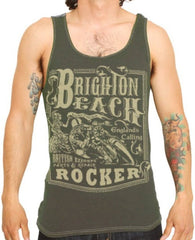 The BRIGHTON BEACH Tank - OLIVE - 70% OFF!