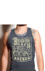 The BRIGHTON BEACH Tank - CHARCOAL (SIZE 2XL ONLY!)
