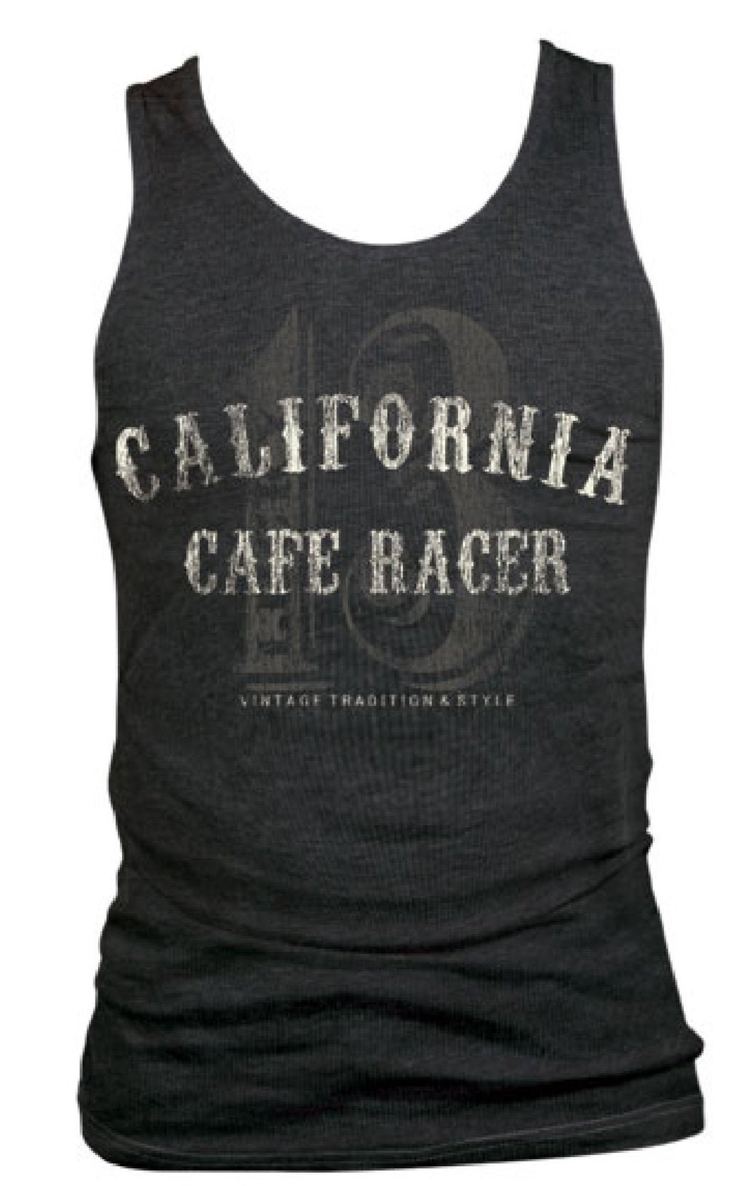 The CALIFORNIA RACER Tank - CHARCOAL