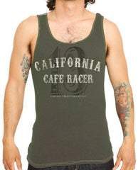 The CALIFORNIA RACER Tank - OLIVE