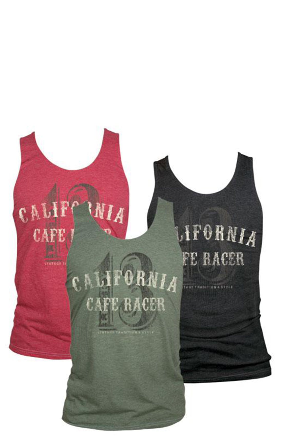 The CALIFORNIA RACER Tank - BRICK - 70% OFF!