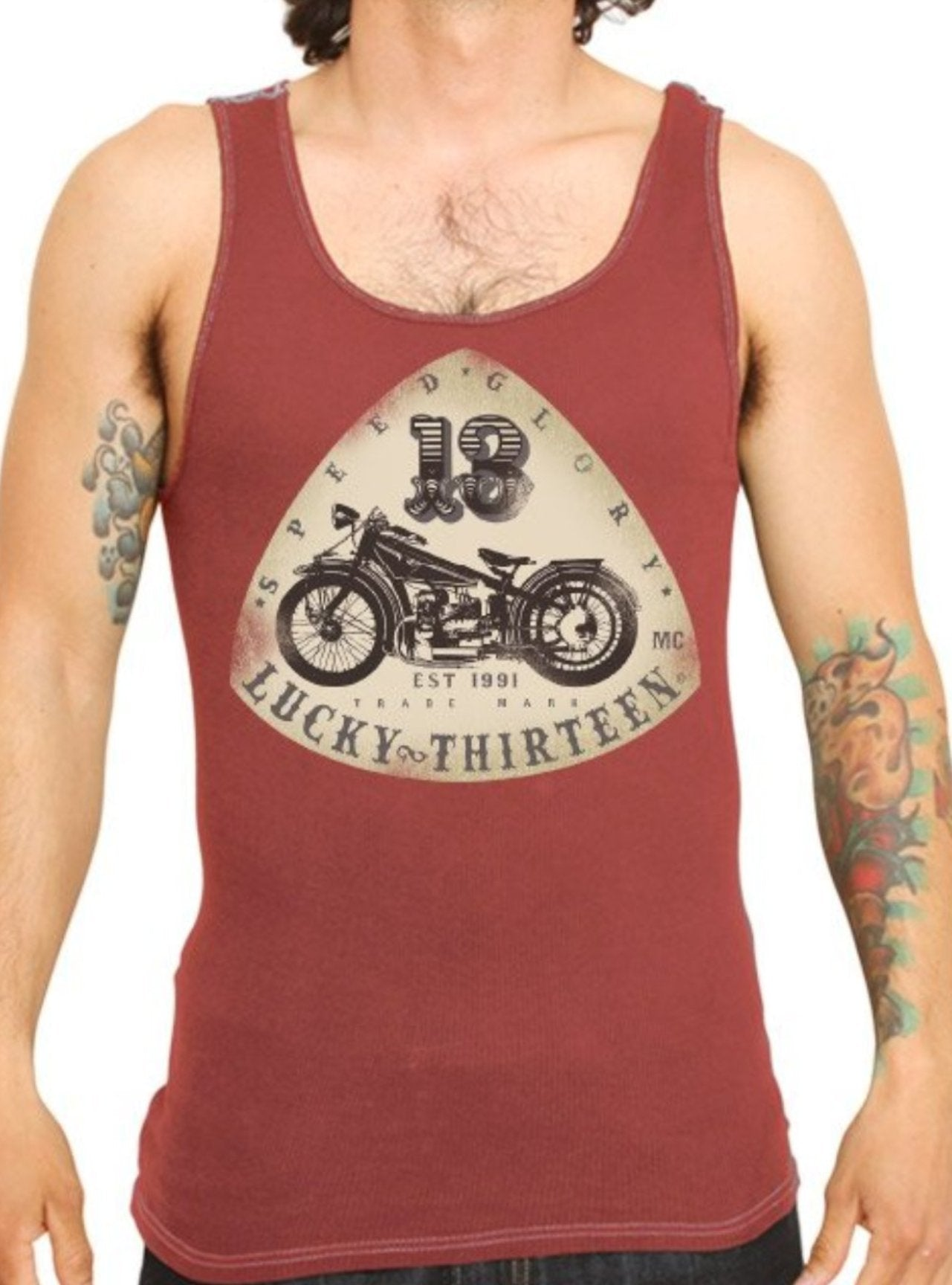 The OLD BIKE Tank - BRICK (SIZES SM & 2XL AVAILABLE!)