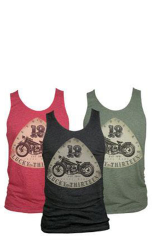 The OLD BIKE Tank - CHARCOAL (SMALL ONLY)