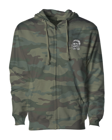The SCUMBAG Full Zip Midweight Hoodie - CAMOUFLAGE