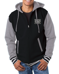 The SKULL STARS Hooligan Full Zip Hooded Uni-Sex Sweatshirt