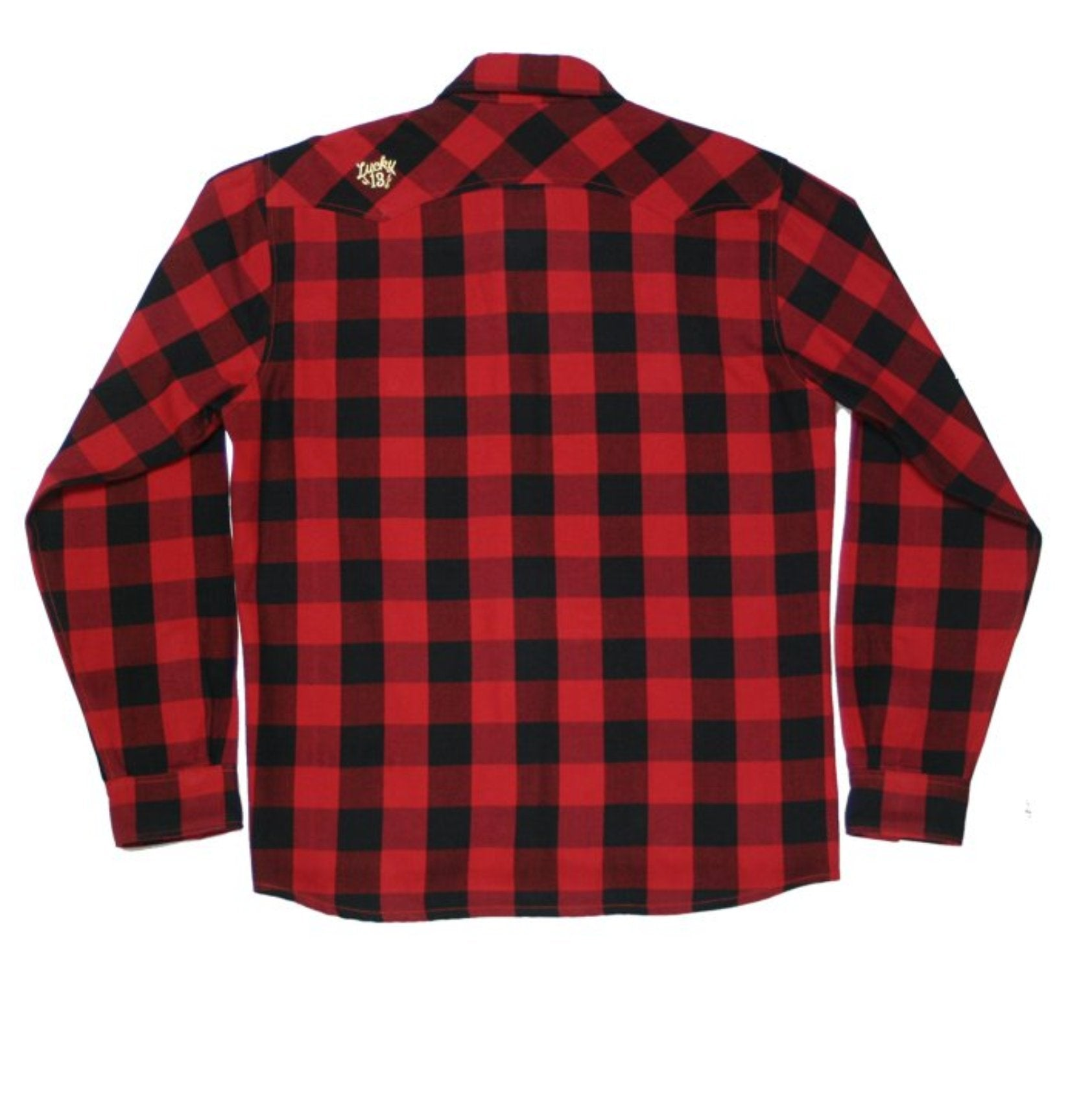 The RINCON Flannel Button Up - RED/BLACK