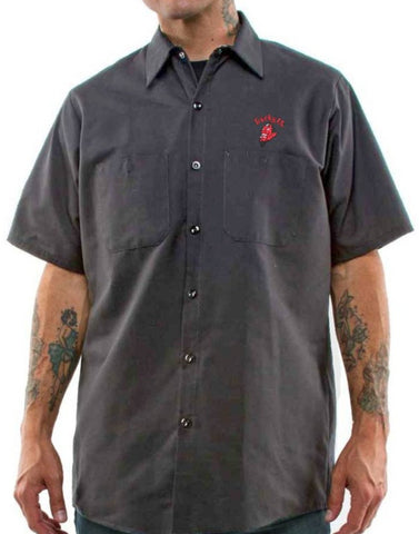 The GREASE, GAS & GLORY Work Shirt - CHARCOAL