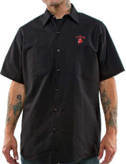 The GREASE, GAS & GLORY Work Shirt - BLACK