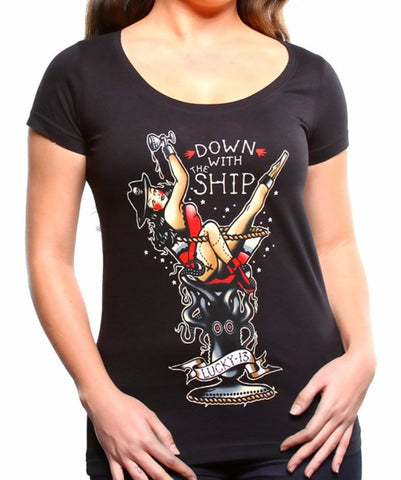 The DOWN WITH THE SHIP Tee