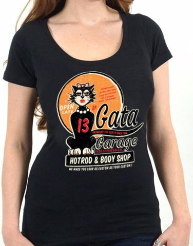 The LA GATA Scoop Neck Tee