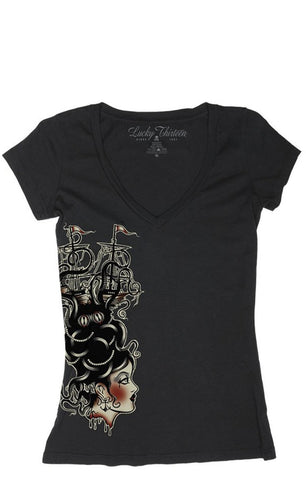 The MISS SEA Deep V-Neck Tee