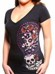 The SHADOW LADY Deep V-Neck Tee