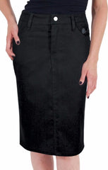 The TEMPTED Stretch Pencil Skirt with Bow Back Pockets - SIZES MEDIUM AND 2XL ONLY!