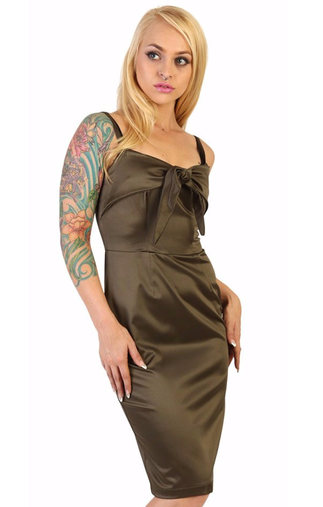 The PUCKER UP Tie Front Dress
