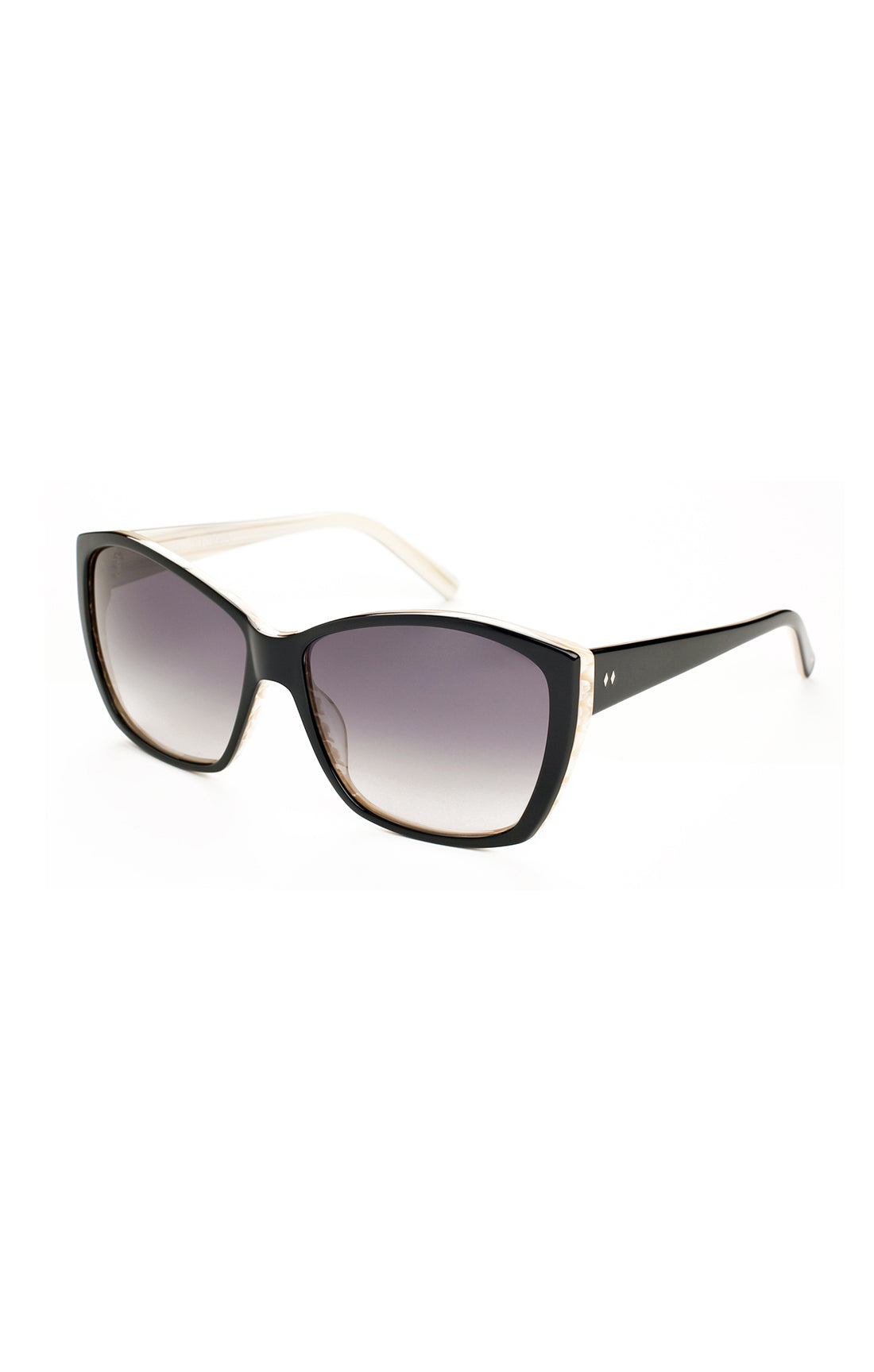 The LE SABOTEUR Sunglasses - Black and White Horn Frames w/ Smoked Gradient Lenses