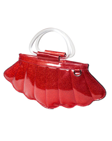 The MERMAID Tote -VENOM RED SPARKLE