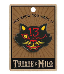 The BLACK CAT 13 Enamel Pin