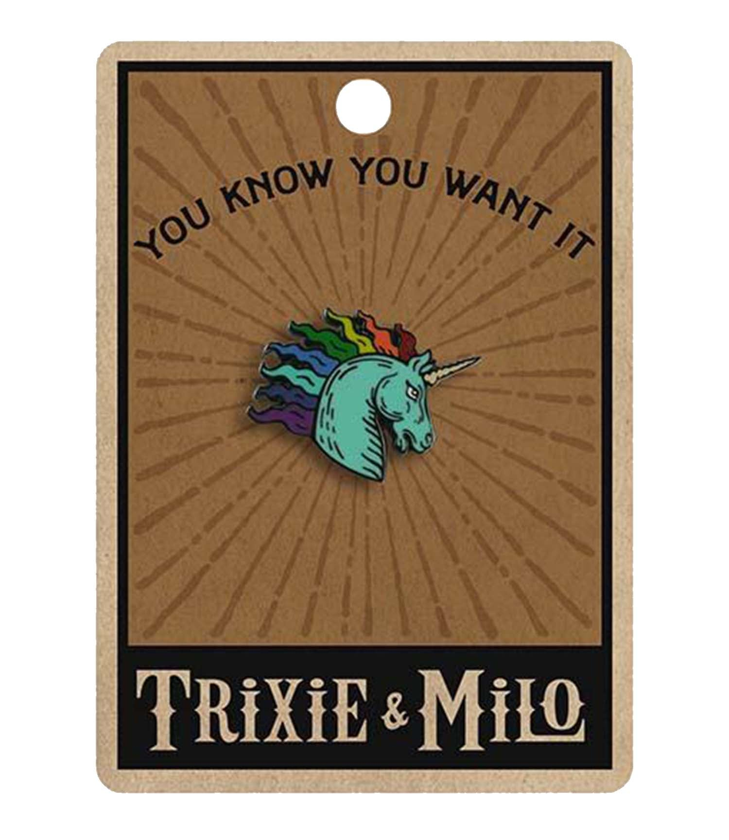 The RAINBOW UNICORN Enamel Pin