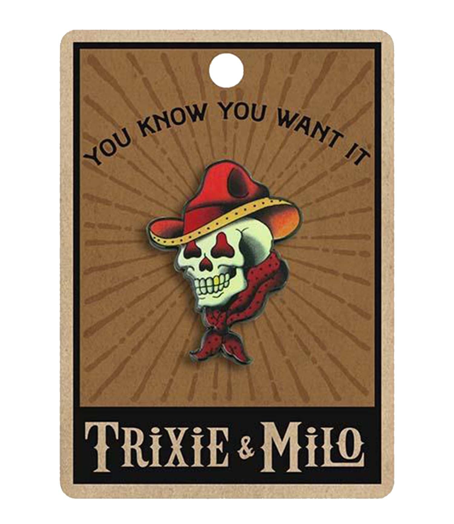The TATTOO COWBOY SKULL Enamel Pin