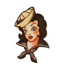 The TATTOO SAILOR GIRL Enamel Pin