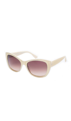 The PETRILLO Sunglasses - French Vanilla Frames w/ Brown Gradient CR-39 Lenses