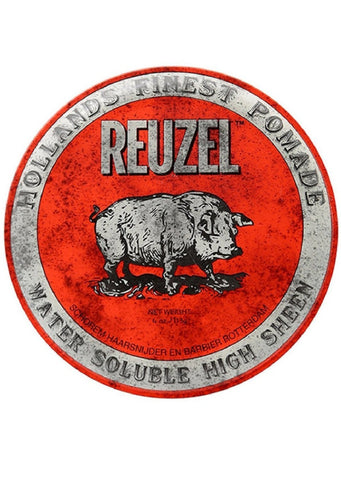REUZEL RED Medium Hold High Sheen Water Based Pomade 4 oz.