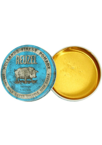 REUZEL BLUE Strong Hold Water Based Pomade 4 oz.