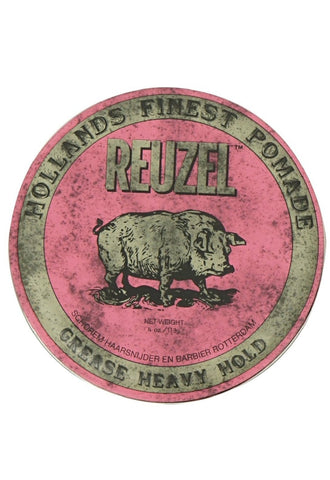 REUZEL PINK Strong Heavy Hold Grease Pomade 4 oz.