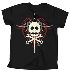 SKULLY PINSTRIPE Kid's Tee