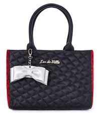 The SWEET PEA Tote - BLACK/RED LEOPARD