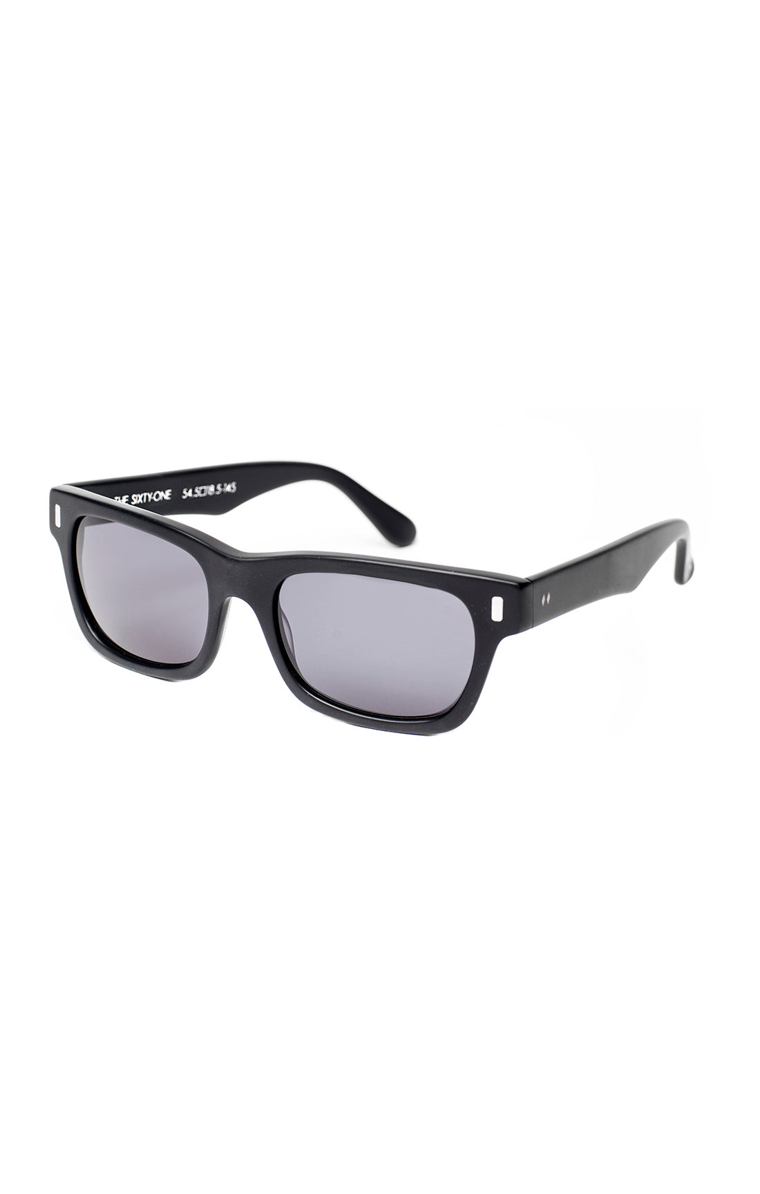 The SIXTY ONE Sunglasses - Black Frames w/ Smoke Lenses