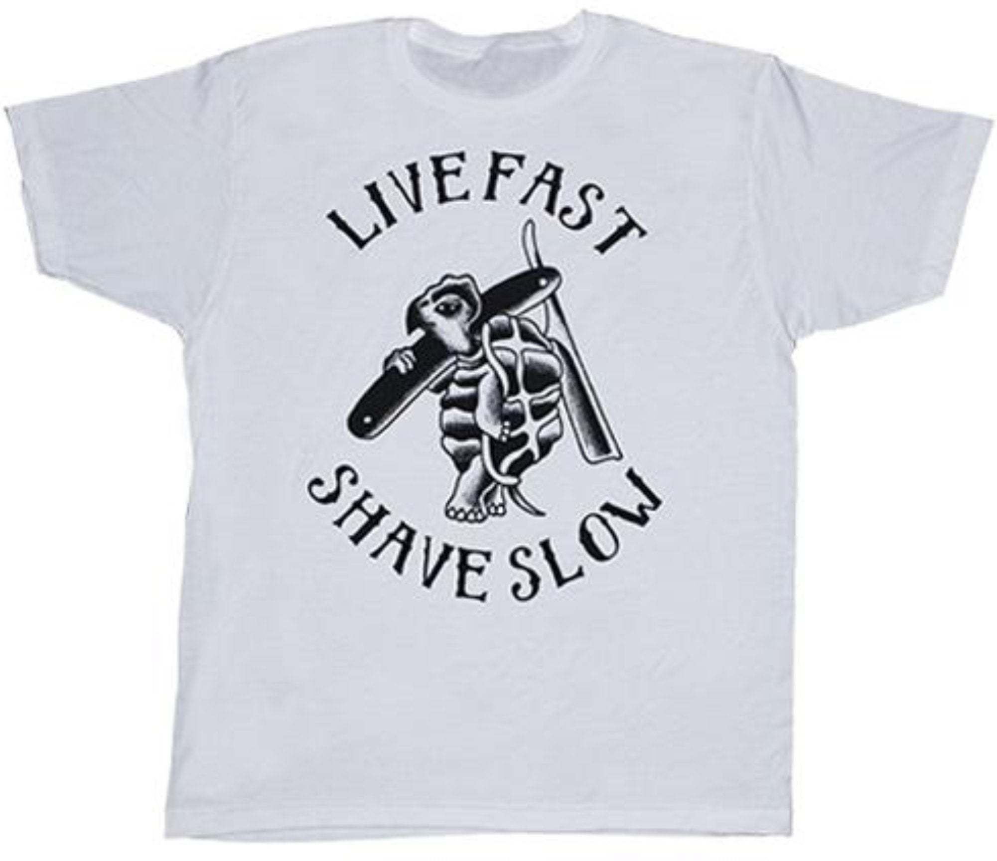 The LIVE FAST SHAVE SLOW Tee