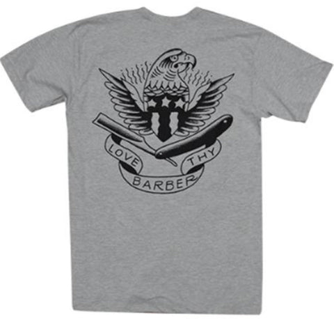The LOVE THY BARBER Tee - HEATHER GREY
