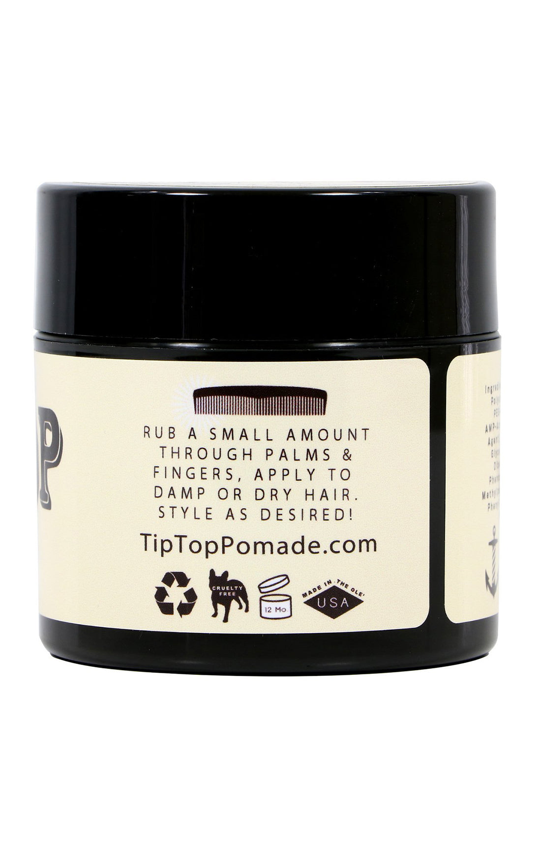 TIP TOP ORIGINAL Pomade - Water Based 4.25 oz