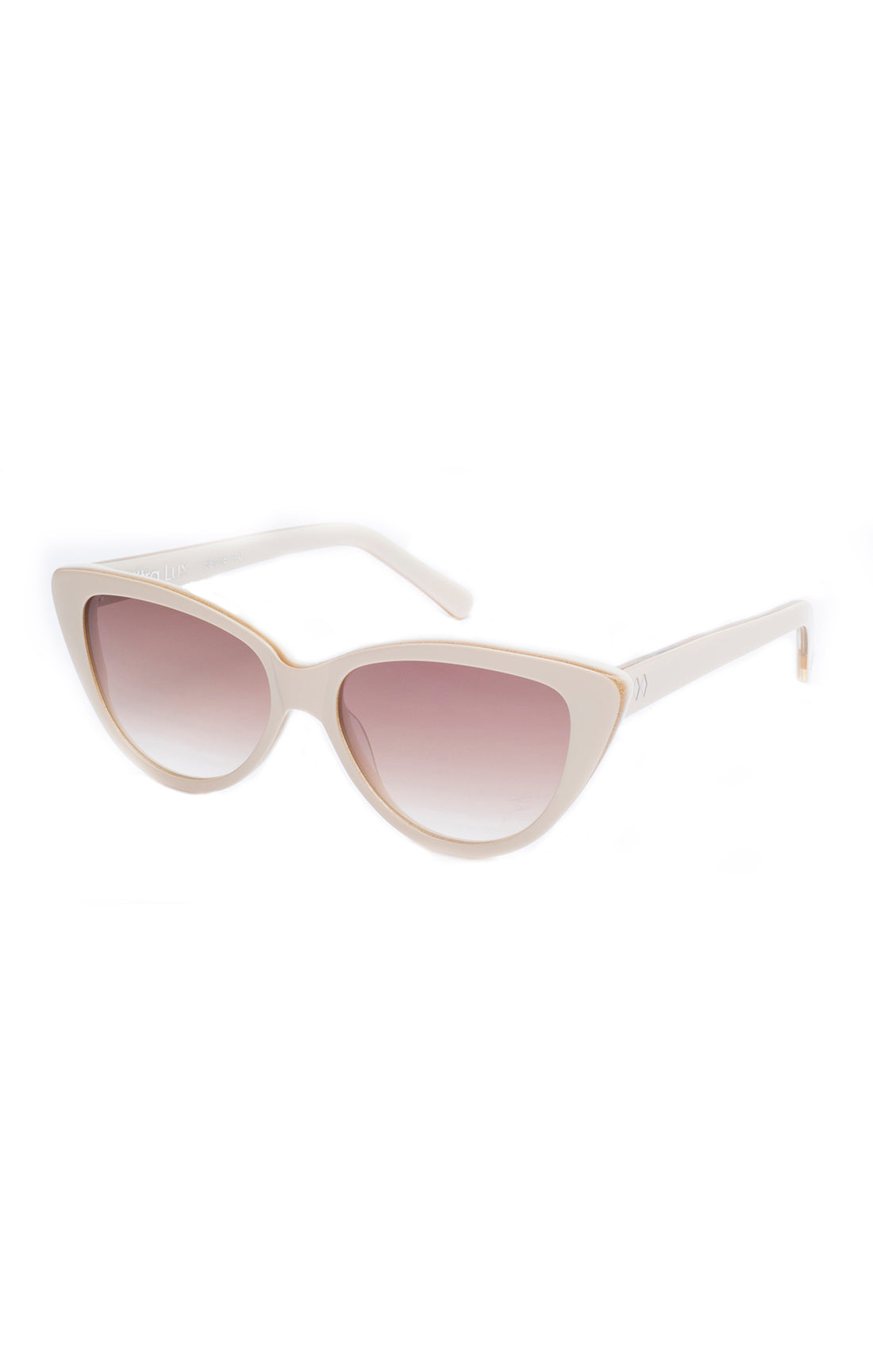 The ULTRA LUX Sunglasses - Cream Frames w/ Brown Gradient Lenses