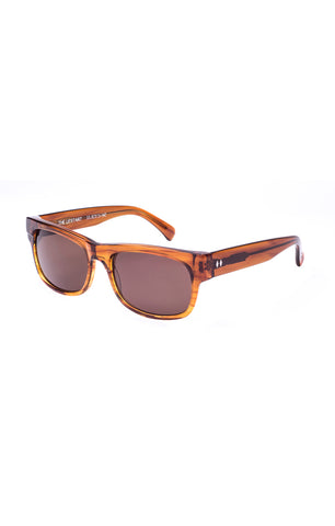 The UPSTART Sunglasses - Amber Frames with Brown CR-39 Lenses