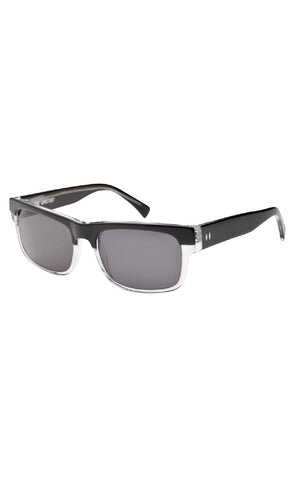 The UPSTART Sunglasses - Black + Clear Frames with Smoke CR-39 Lenses