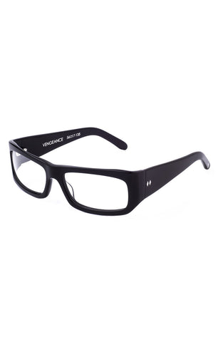 The VENGEANCE Sunglasses - Black Frames with Clear CR-39 Lenses