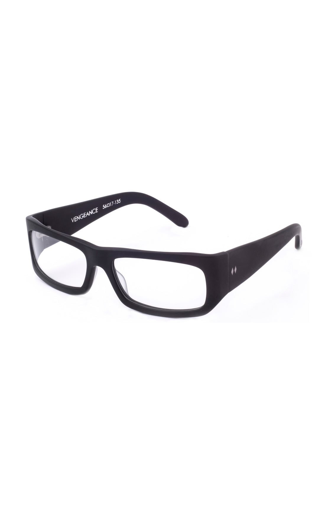 The VENGEANCE Sunglasses - Matte Black Frames with Clear CR-39 ...