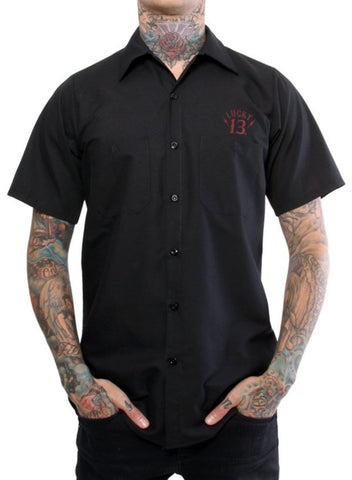 The BLACK SIN Work Shirt - Another GGG Exlusive! (ONLY SIZE MEDIUM LEFT)