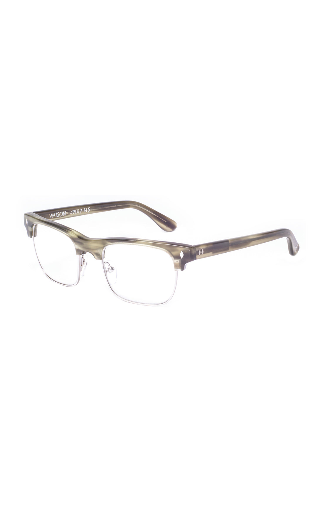 The WATSON Sunglasses - Green/Horn Frames w/ Clear Lenses - ON SALE!