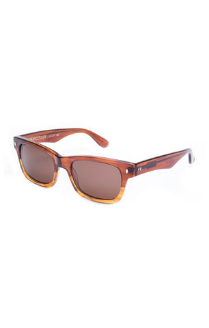 The WAYCOOLER Sunglasses - Amber Frames w/ Brown Lenses