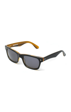The WAYCOOLER Sunglasses - Black and Honey Tortoise Frames w/ Smoke Lenses