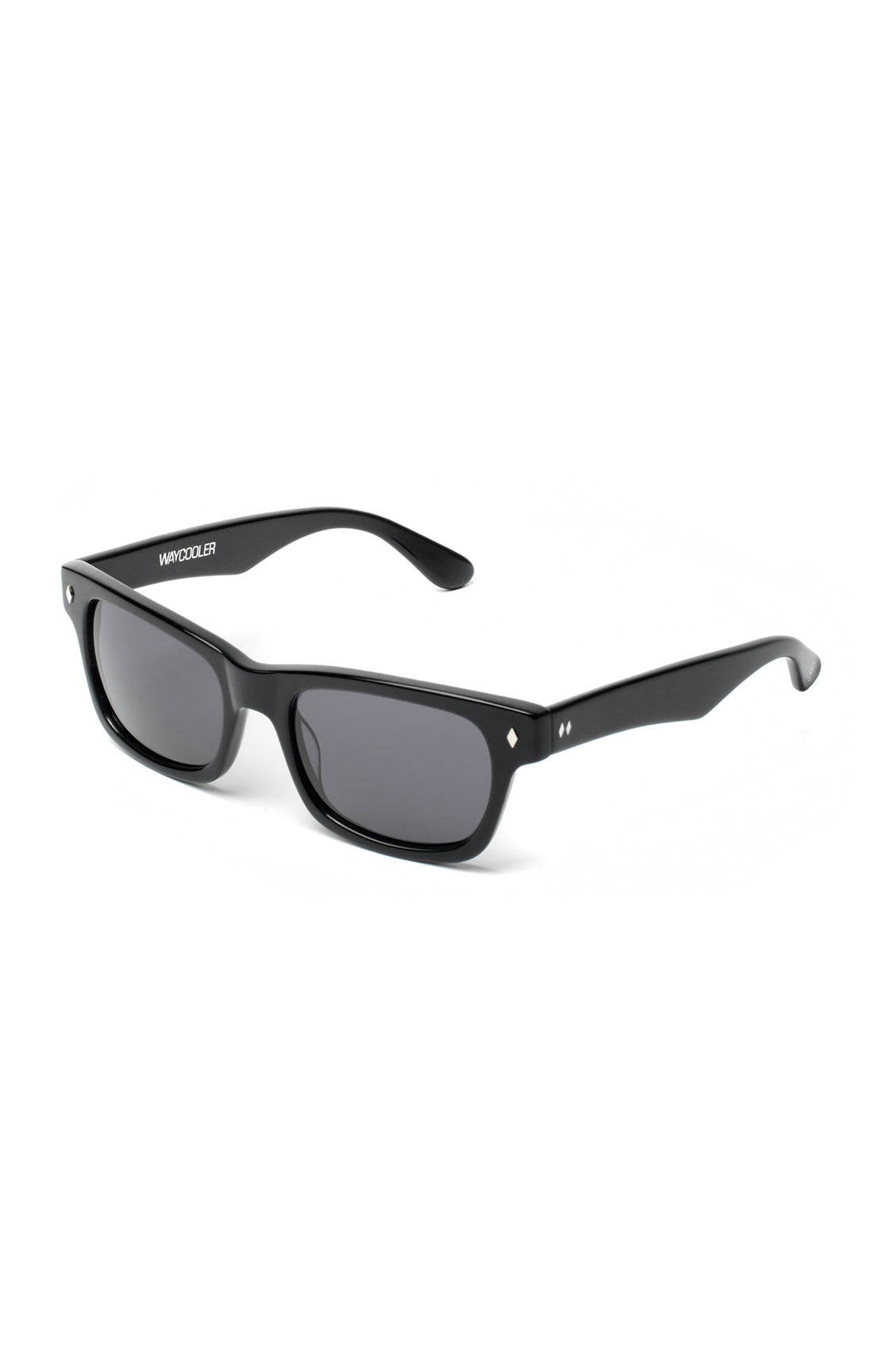The WAYCOOLER Sunglasses by Tres Noir - Solid Black Frames w/ Smoked ...