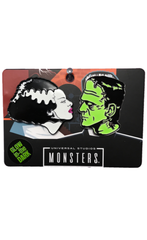 The BRIDE & FRANKENSTEIN Enamel Pin Set - GLOWS IN THE DARK!