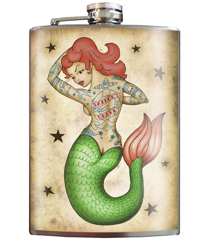 The TATTOOED MERMAID Stainless Steel Flask