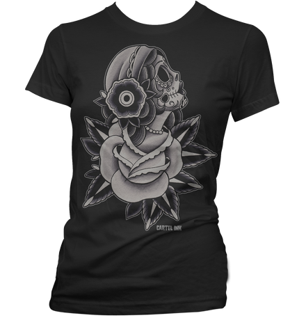 The ROSA SUGAR SKULL Women's Tee