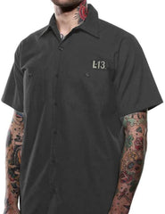 The NO CLUB Work Shirt - CHARCOAL (ANOTHER GGG EXCLUSIVE!)